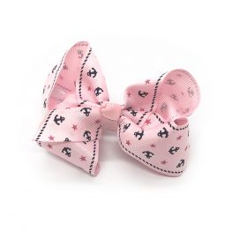 ahoy-mate-childrens-kids-hair-bows-clip-pink-1