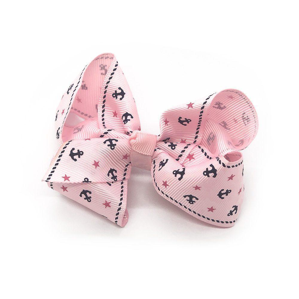 ahoy-mate-childrens-kids-hair-bows-clip-pink-1