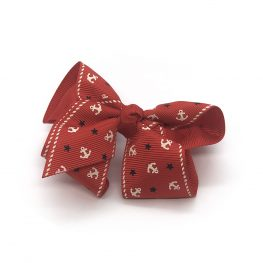 ahoy-mate-childrens-kids-hair-bows-clip-red-1