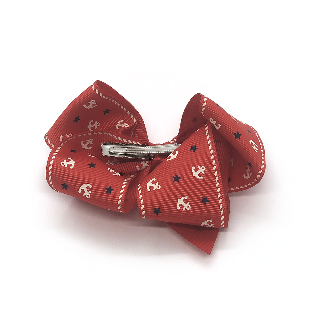 ahoy-mate-childrens-kids-hair-bows-clip-red-1a