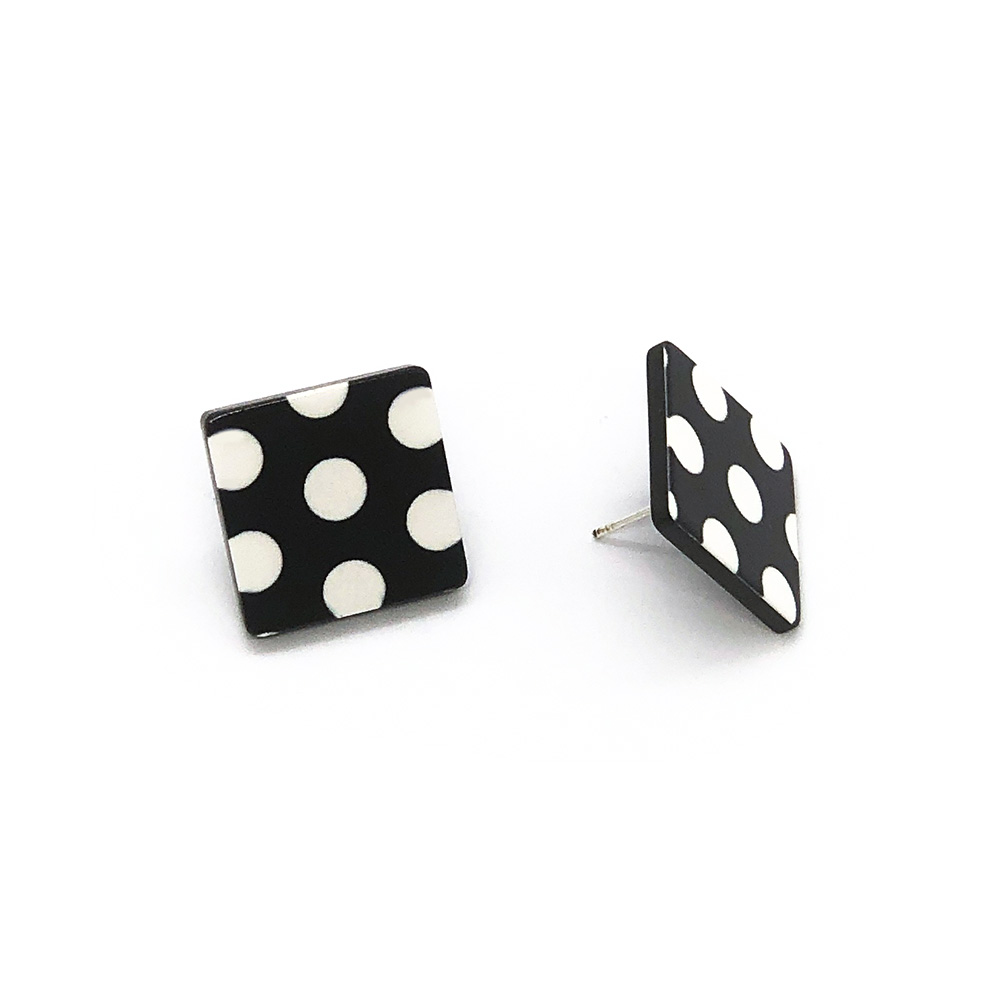 black-and-white-polka-dot-earrings