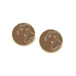 brown-abstract-art-woman-earrings-6a
