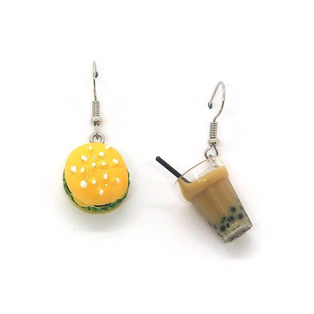 burger-and-boba-earrings