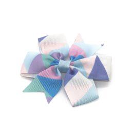 colours-of-joy-pinwheel-childrens-kids-hair-bows-clip-hot-blue-1a