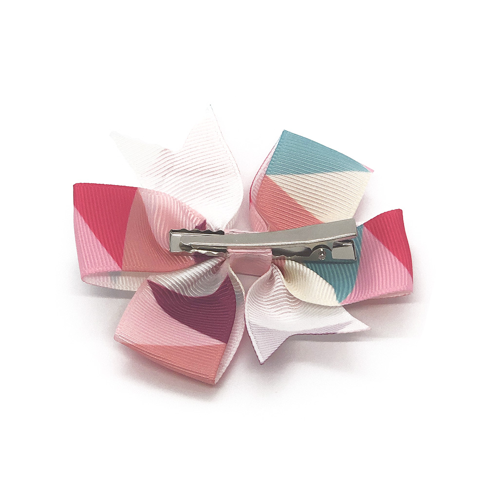 colours-of-joy-pinwheel-childrens-kids-hair-bows-clip-pink-1a