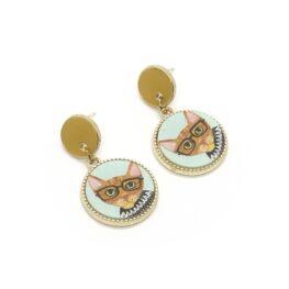 cool-cat-in-glasses-earrings