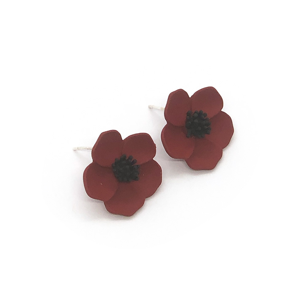 flower-power-stud-earrings-red-3