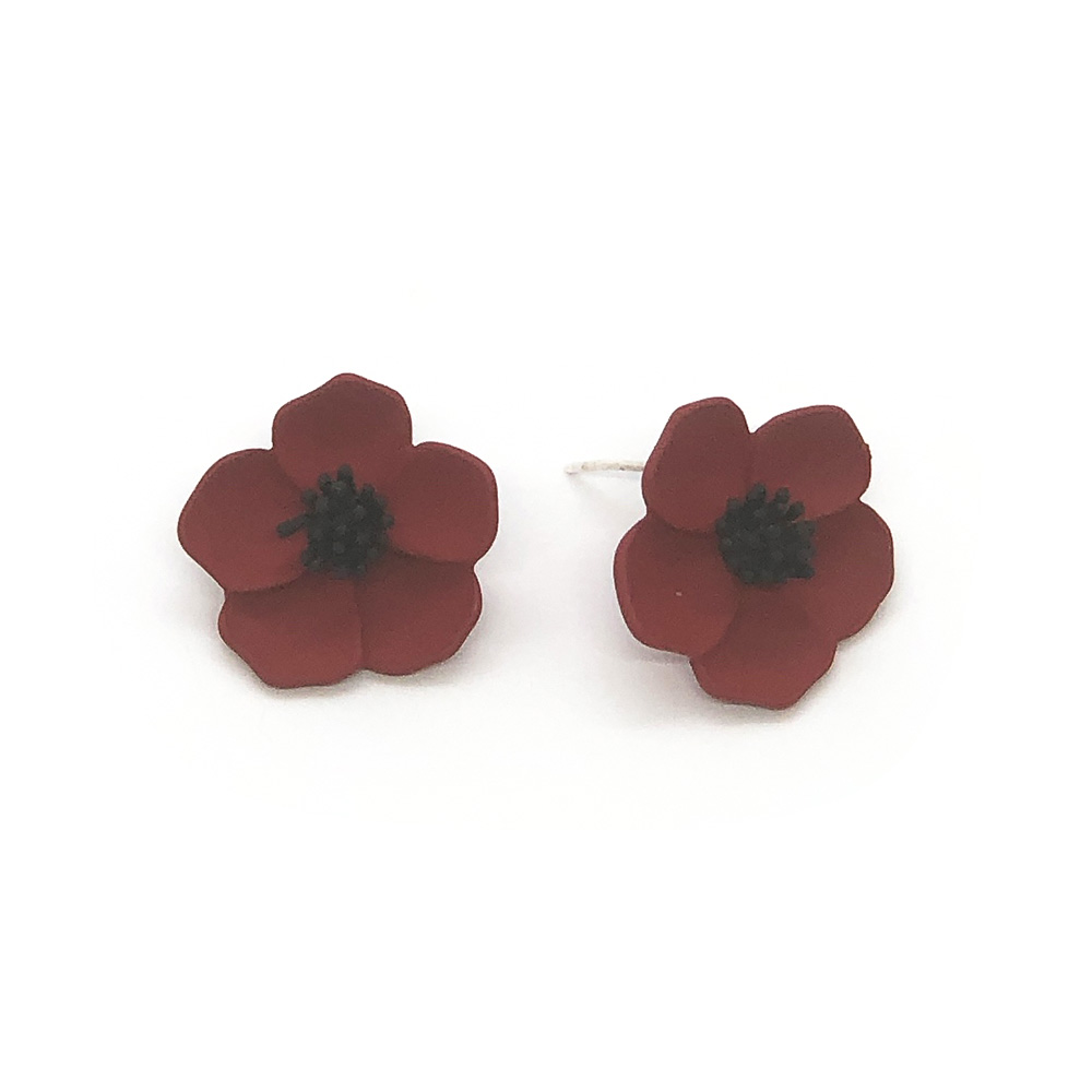flower-power-stud-earrings-red-3
