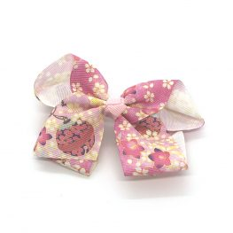 flowers-of-spring-childrens-kids-ribbon-hair-bows-clip-pink-1