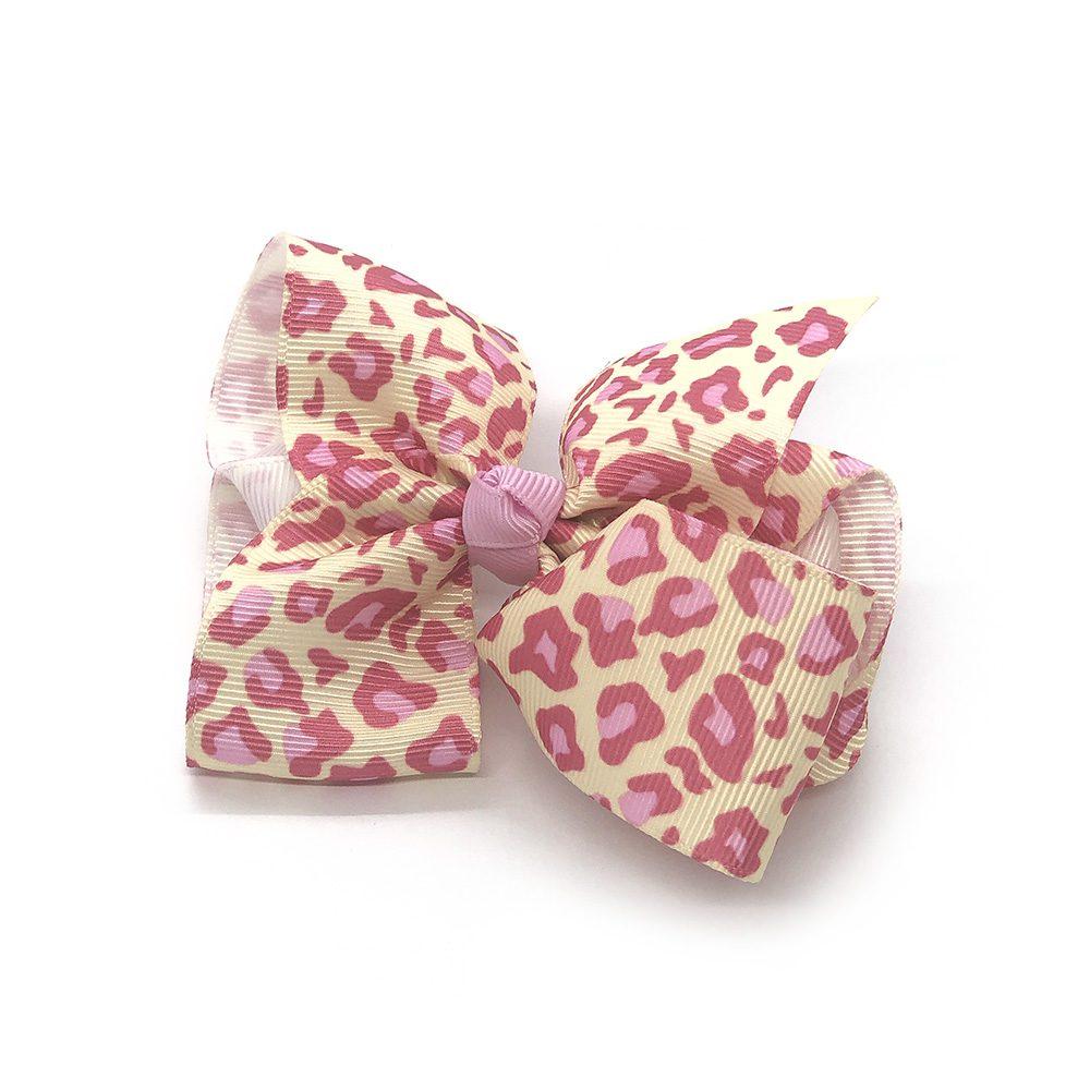 leopard-print-childrens-kids-hair-bows-clip-fuchsia-1