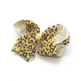 leopard-print-childrens-kids-hair-bows-clip-mustard-yellow-1