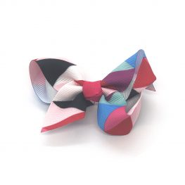multi-coloured-childrens-kids-ribbon-hair-bows-clip-hot-pink-1