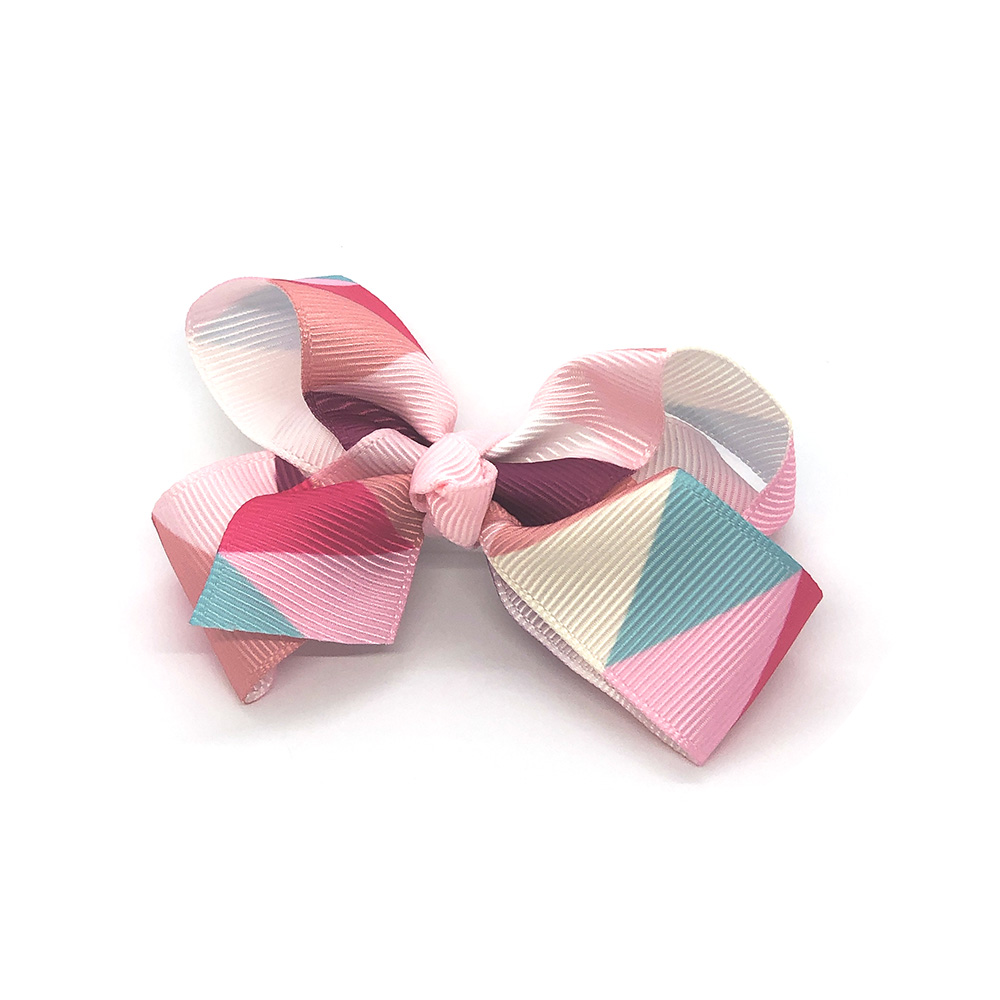 multi-coloured-childrens-kids-ribbon-hair-bows-clip-light-pink-1