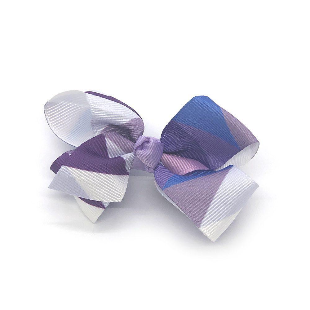 multi-coloured-childrens-kids-ribbon-hair-bows-clip-light-purple-1