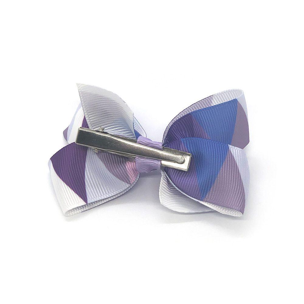 multi-coloured-childrens-kids-ribbon-hair-bows-clip-light-purple-1a