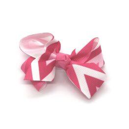 multi-coloured-childrens-kids-ribbon-hair-bows-clip-pink-1