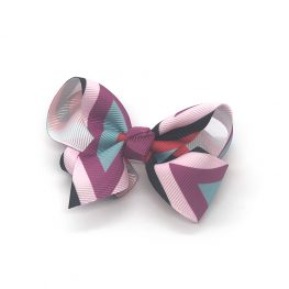 multi-coloured-childrens-kids-ribbon-hair-bows-clip-purple-1