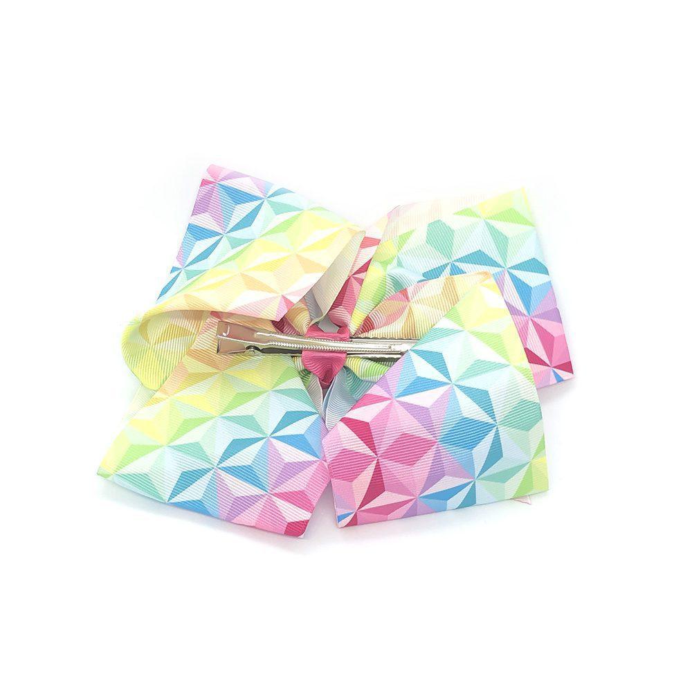 multi-coloured-geometric-childrens-junior-ribbon-hair-bows-clip-rainbow-1a