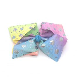multi-coloured-unicorn-childrens-junior-ribbon-hair-bows-clip-rainbow-1a