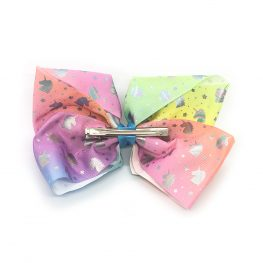multi-coloured-unicorn-childrens-junior-ribbon-hair-bows-clip-rainbow-1a