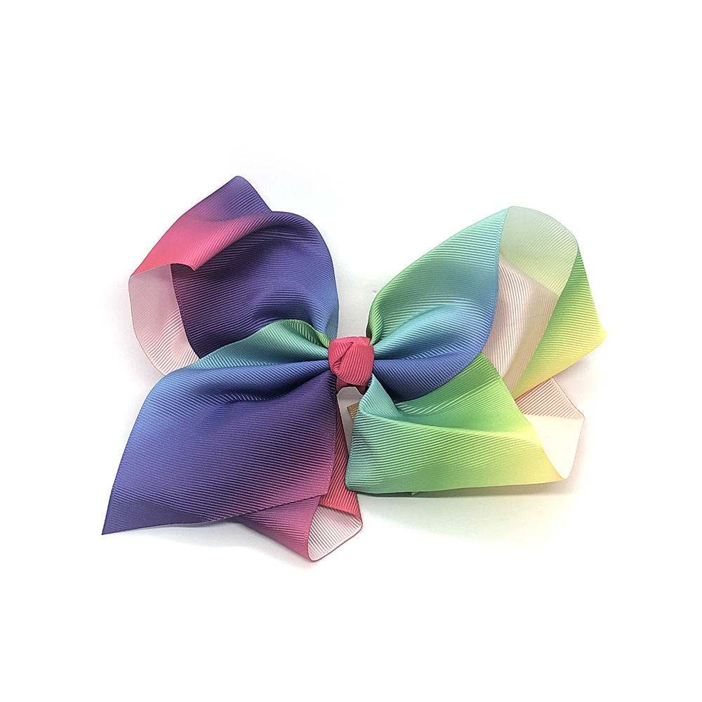 multi-tonal-childrens-junior-ribbon-hair-bows-clip-rainbow-1