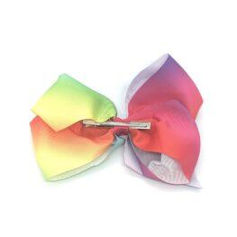 multi-tonal-childrens-junior-ribbon-hair-bows-clip-rainbow-1