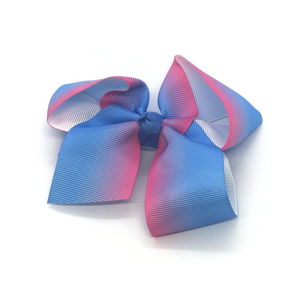 multi-tonal-childrens-kids-ribbon-hair-bows-clip-blue-1