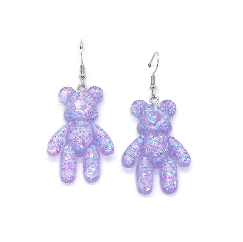 my-cuddly-bear-purple-earrings
