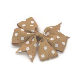 polka-dot-pinwheel-childrens-kids-hair-bows-clip-brown-1