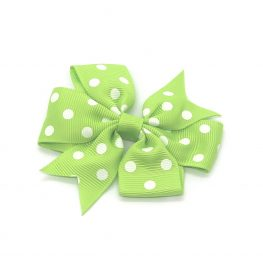 polka-dot-pinwheel-childrens-kids-hair-bows-clip-green-1