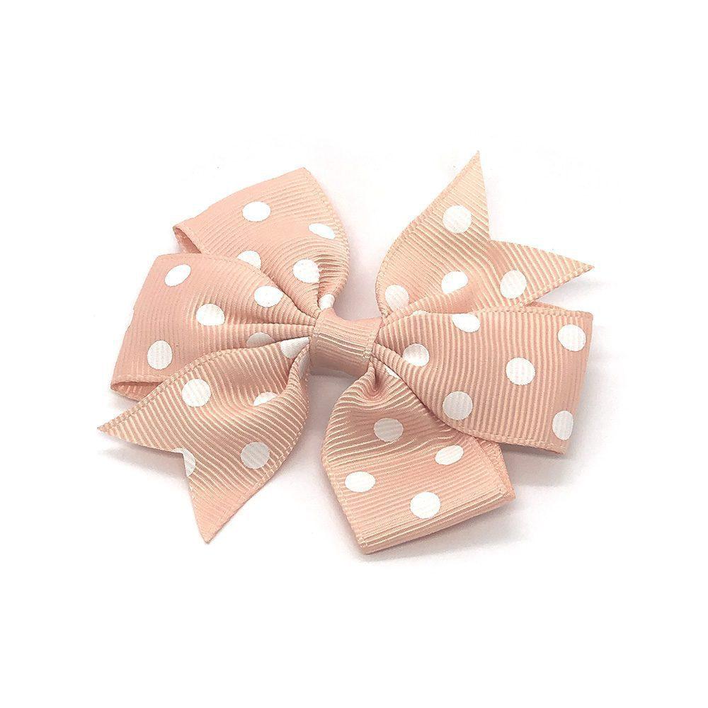 polka-dot-pinwheel-childrens-kids-hair-bows-clip-peach-1