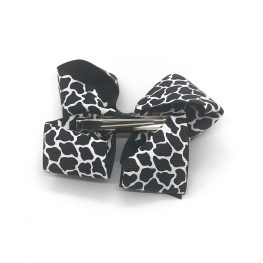 posh-in-prints-childrens-kids-hair-bows-clip-black-1a