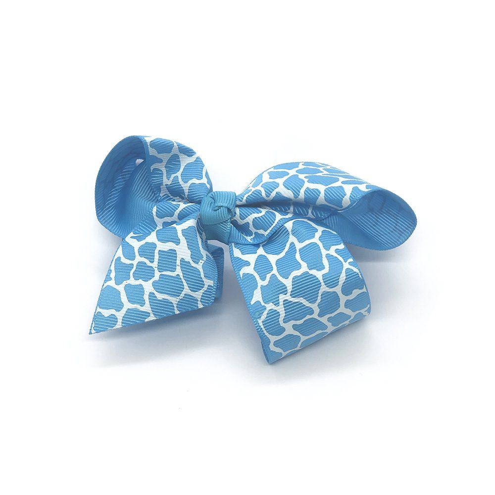 posh-in-prints-childrens-kids-hair-bows-clip-blue-1