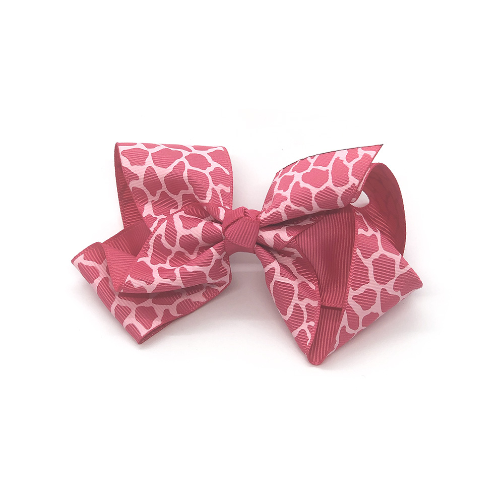 posh-in-prints-childrens-kids-hair-bows-clip-pink-1