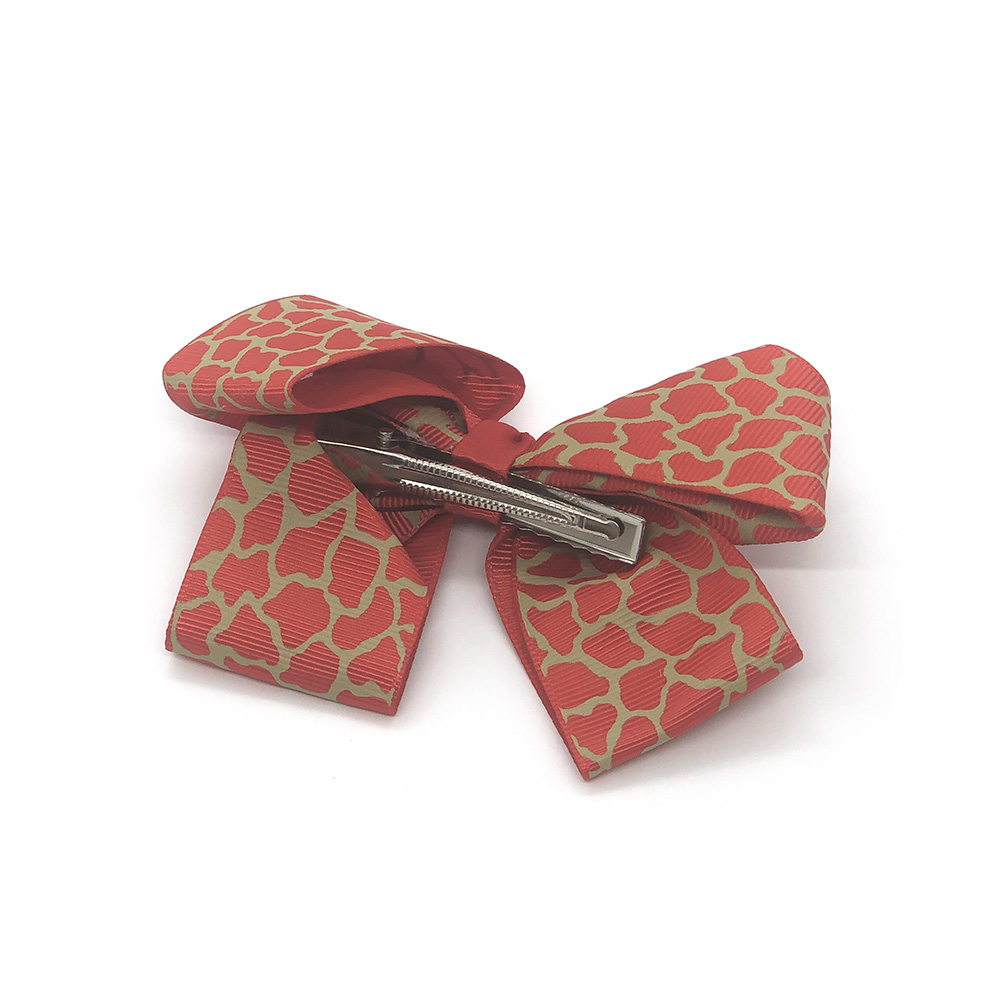 posh-in-prints-childrens-kids-hair-bows-clip-red-1a