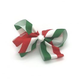 pretty-in-stripes-green-and-red-childrens-kids-hair-bow-clip-1