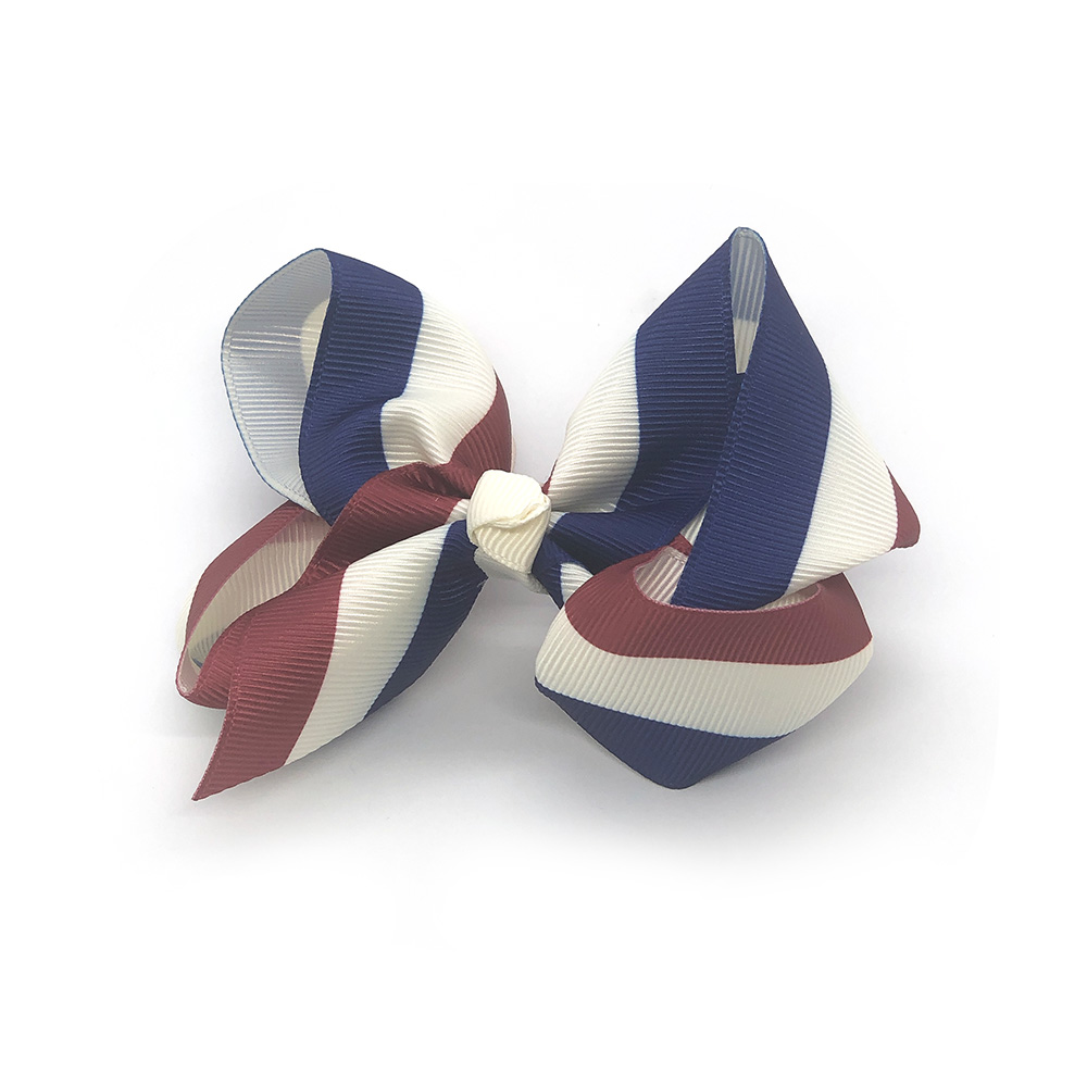 pretty-in-stripes-maroon-and-blue-childrens-kids-hair-bow-clip-1