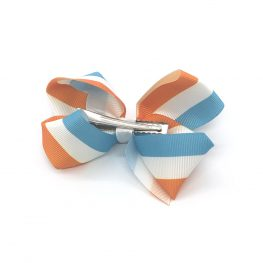 pretty-in-stripes-orange-and-blue-childrens-kids-hair-bow-clip-1
