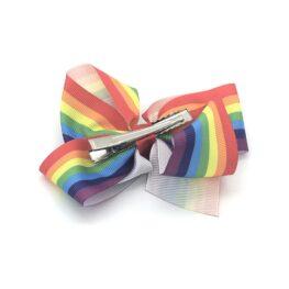 rainbow-striped-childrens-kids-ribbon-hair-bows-clip-1