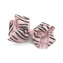 zebra-striped-childrens-kids-hair-bows-clip-light-pink-1