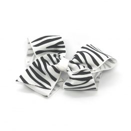 zebra-striped-childrens-kids-hair-bows-clip-white-1a