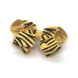 zebra-striped-childrens-kids-hair-bows-clip-yellow-1