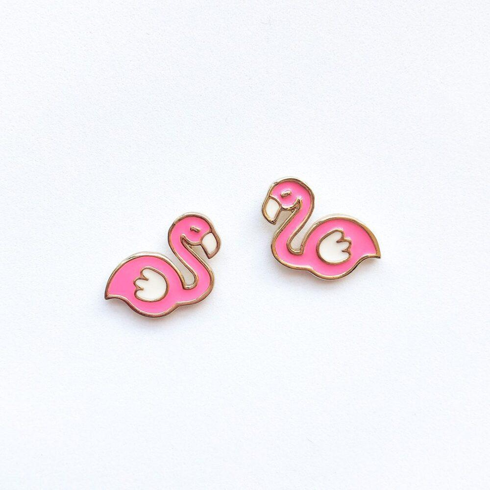 pink-flamingos-cute-earrings-studs-2a