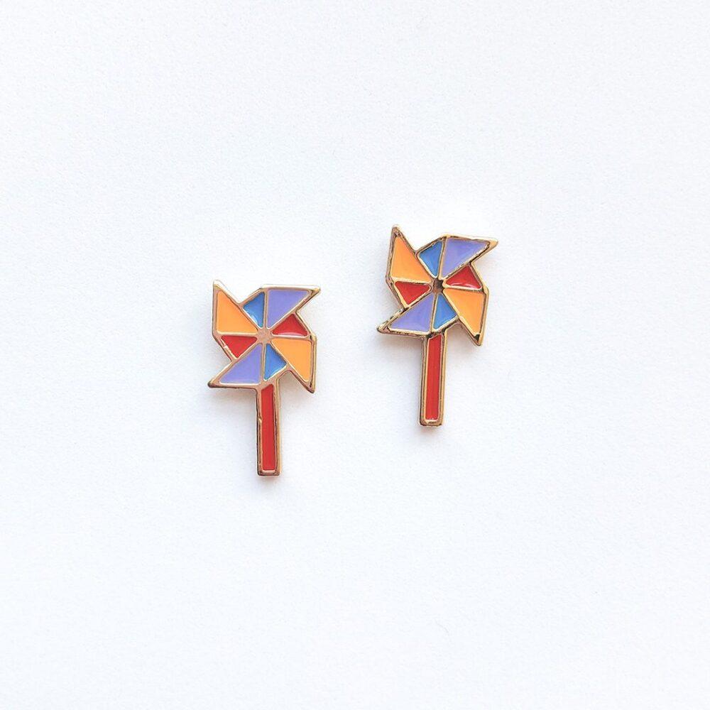 rainbow-pinwheel-cute-earrings-studs-1