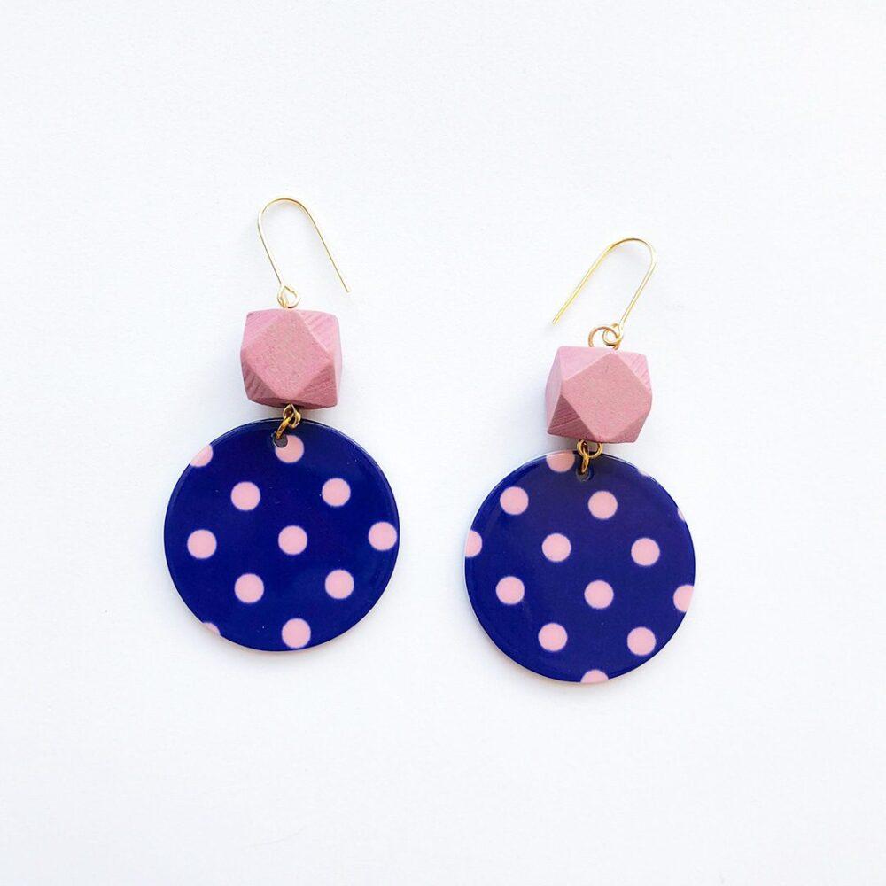 polka-dot-fun-earrings-pink-1