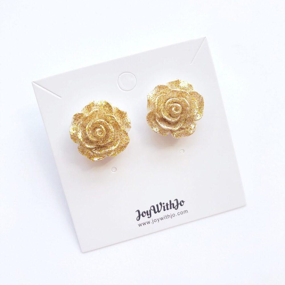 vintage-inspired-glitter-gold-rose-earrings-2