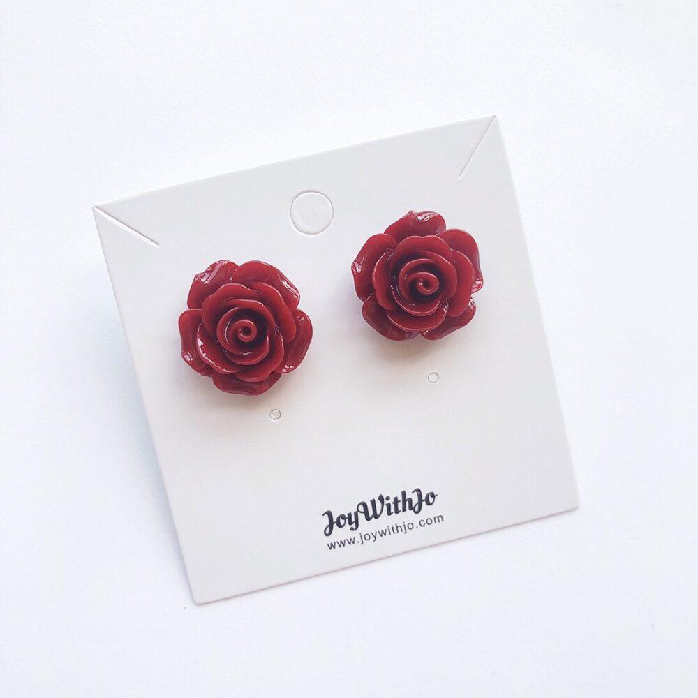 vintage-inspired-wine-red-earrings-3