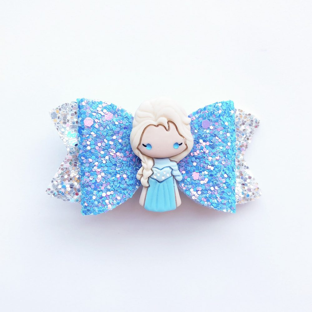 frozen-elsa-in-blue-girls-hair-bow-1
