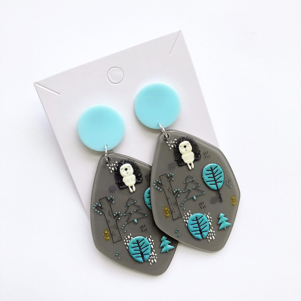 funky-hedgehog-earrings-1a