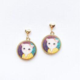 cute-kimono-cat-earrings-1a